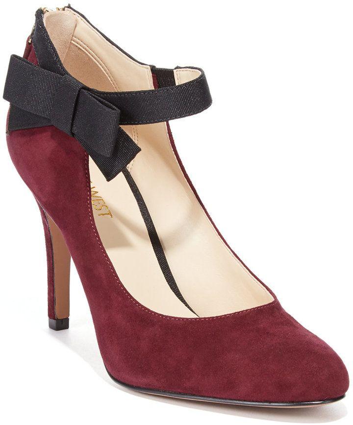 Zapatos negros con hebilla vintage Nine West para mujer T6kIh