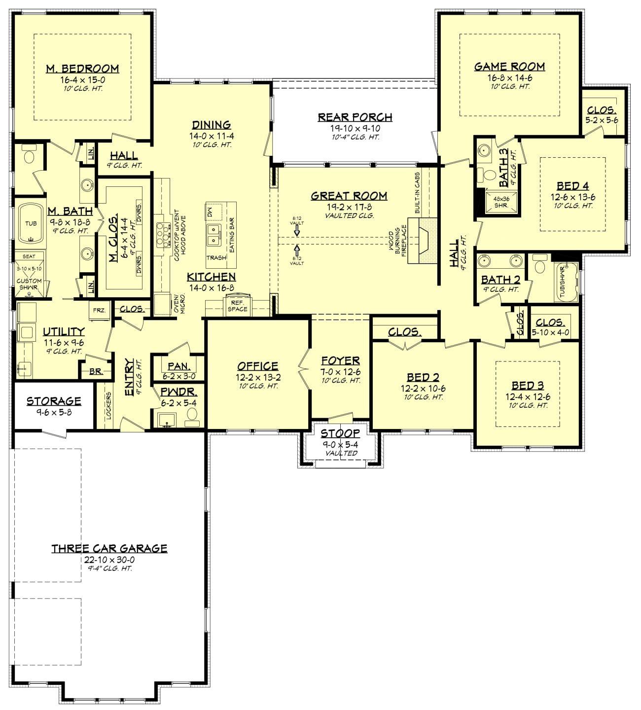 Arbor Place House Plan Floor Plans Ranch Coastal House Plans Basement House Plans