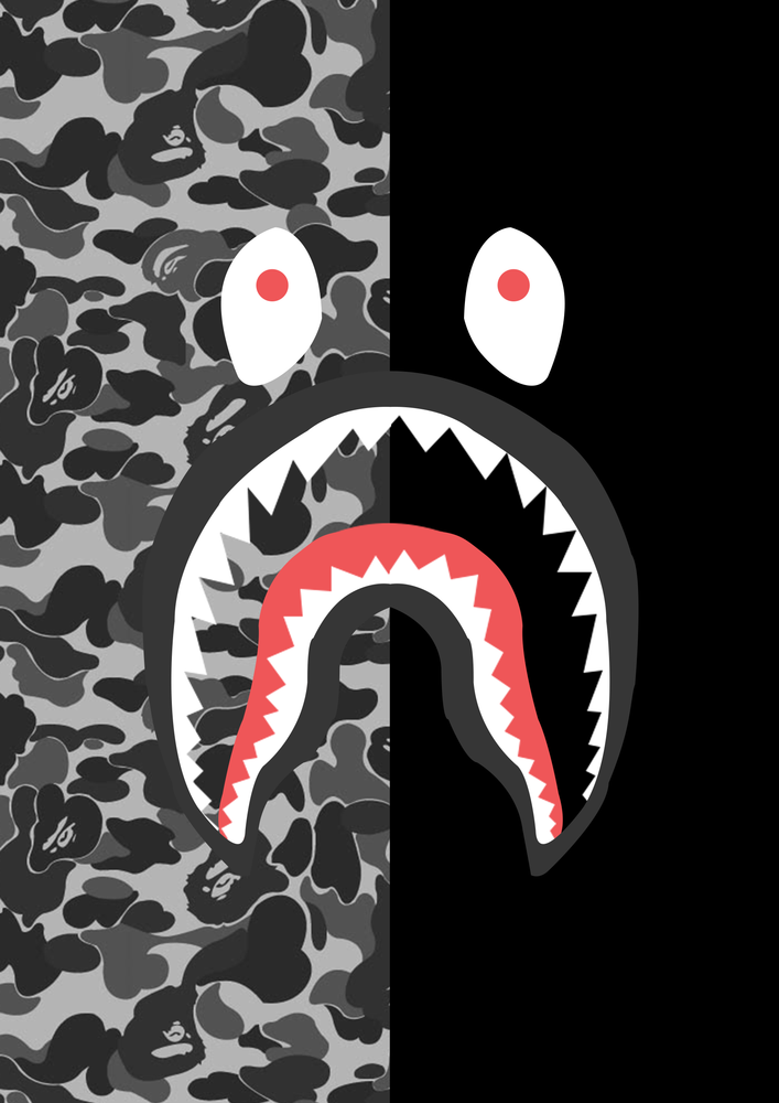 Resultado de imagen para bape shark logo Kertas dinding