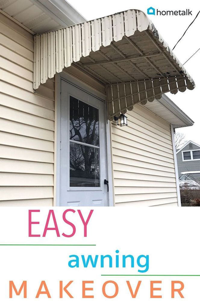 How To Makeover An Awning Diy Diy Awning Home Diy Diy Home Decor Projects