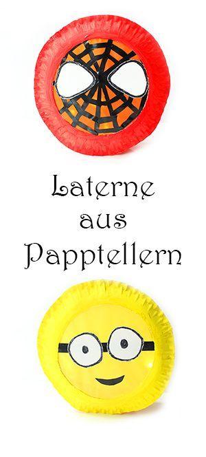 Laterne Aus Papptellern Basteln Video Laternen Pinterest Diy