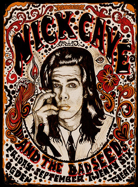 c7d84795b51f Nick Cave Poster by Darren Grealish in 2019