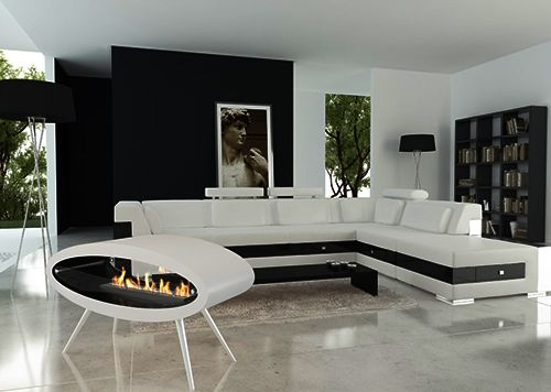 Fireplaces Ceiling / Floor Ethanol Biofuel Fireplace by Decoflame - moderne wohnzimmer couch