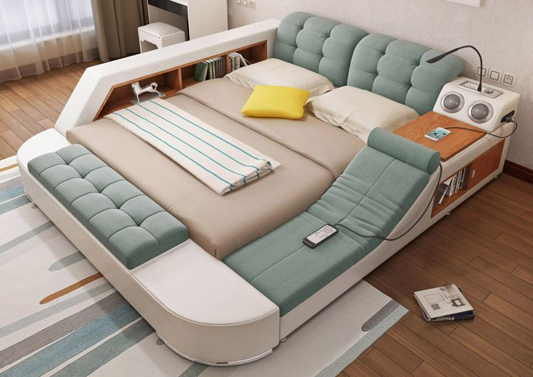 massage chair bed glider chairs for garden the ultimate with integrated speakers and desk