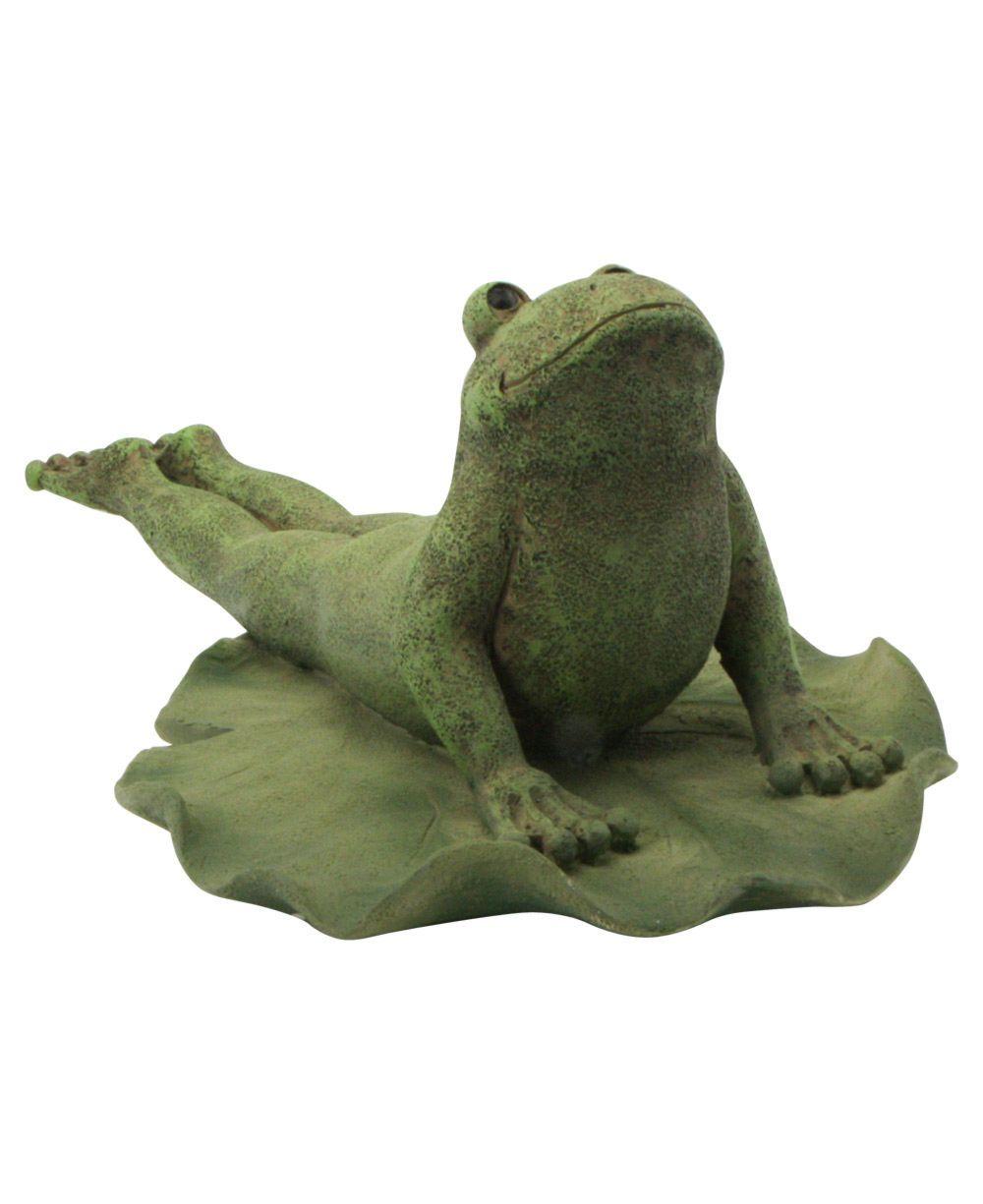 Yoga Frog Garden Statues: Cobra Pose Frog