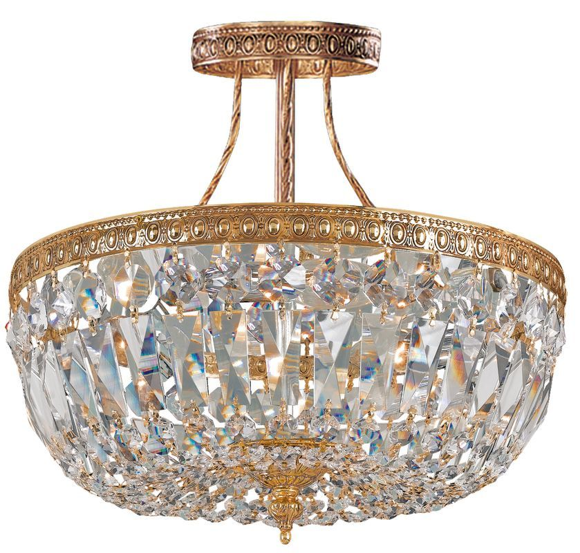 Crystorama lighting group 119 10 richmond 3 light semi flush crystal crystorama lighting group 119 10 richmond 3 light semi flush crystal ceiling fix olde aloadofball Choice Image