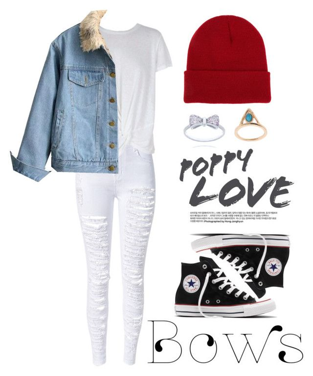 """Untitled #221"" by luchimahone on Polyvore featuring MINKPINK, Converse and NLY Accessories"