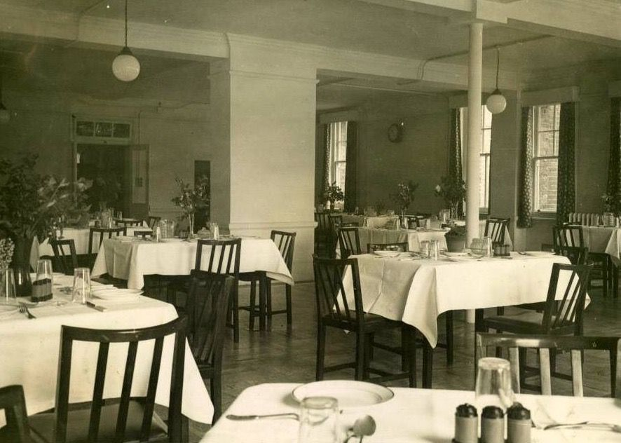 The Nurses Dining Room At St Olaves Hospital Rotherhithe South East London England In 1948