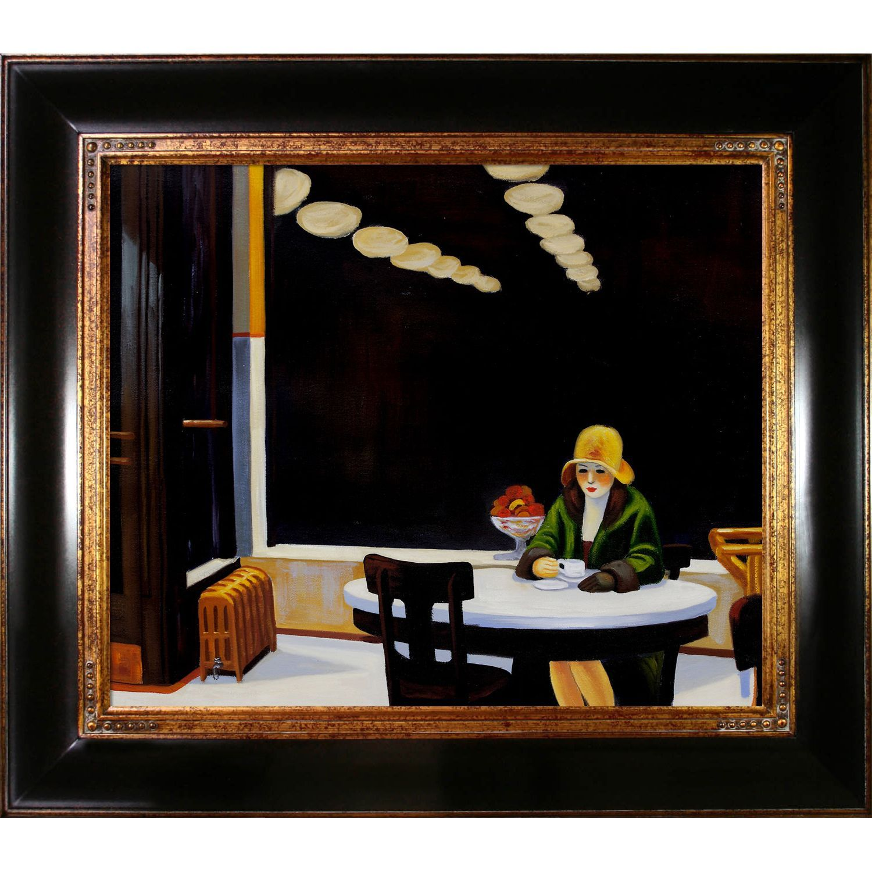Edward Hopper \'Automat\' Hand Painted Framed Art | Hopper | Pinterest ...