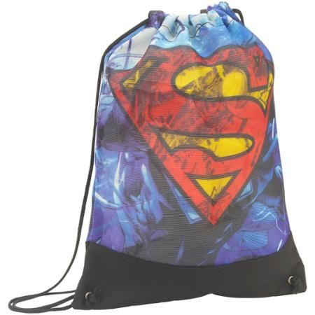 Superman Mesh Cinch Drawstring Backpack Bag - Walmart.com ...