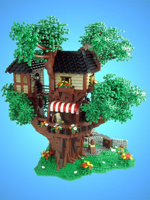 Mrs Merple S Treehouse Lego Tree Lego Tree House Custom Lego