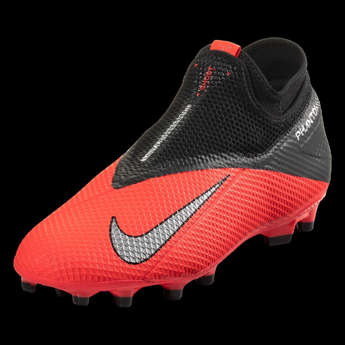 Nike Phantom Vision 2 Academy Df Fg Mg Firm Ground Soccer Cleat Laser Crimson Metallic Silver Black 8 In 2020 Soccer Cleats Phantom Vision Cleats