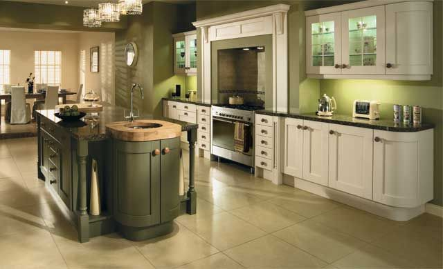 Olive Green Painted Kitchen Cabinets Back To Traditional