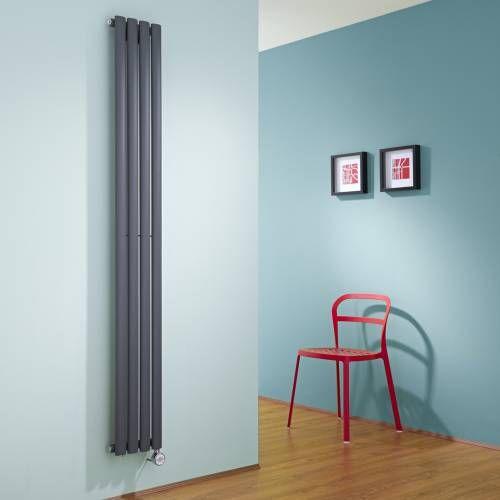 radiateur design lectrique vertical anthracite vitality 178cm x 23 6cm x 5 6cm in 2018 hudson. Black Bedroom Furniture Sets. Home Design Ideas