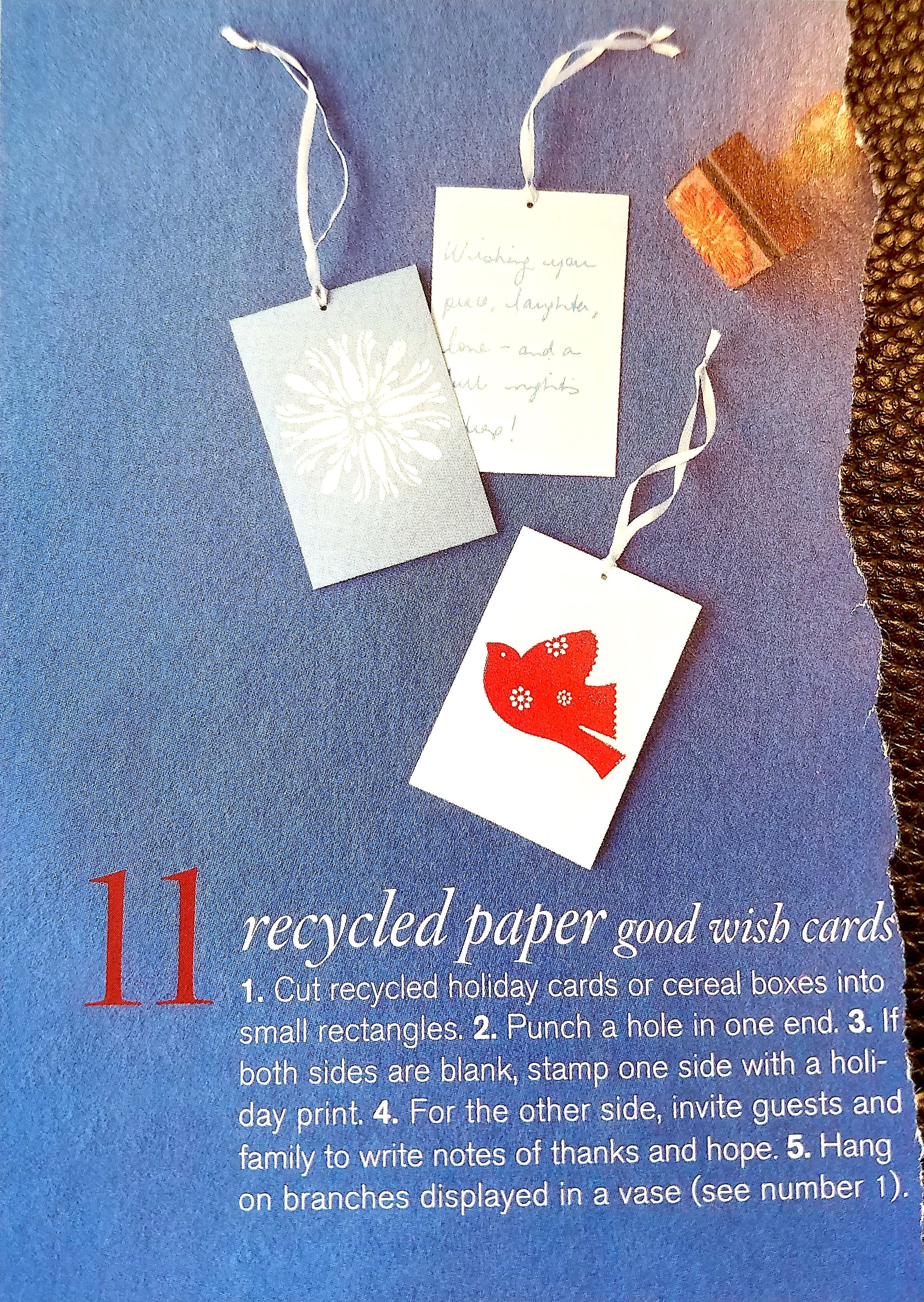 Upcycle Old Christmas Cards Into Wish Cards