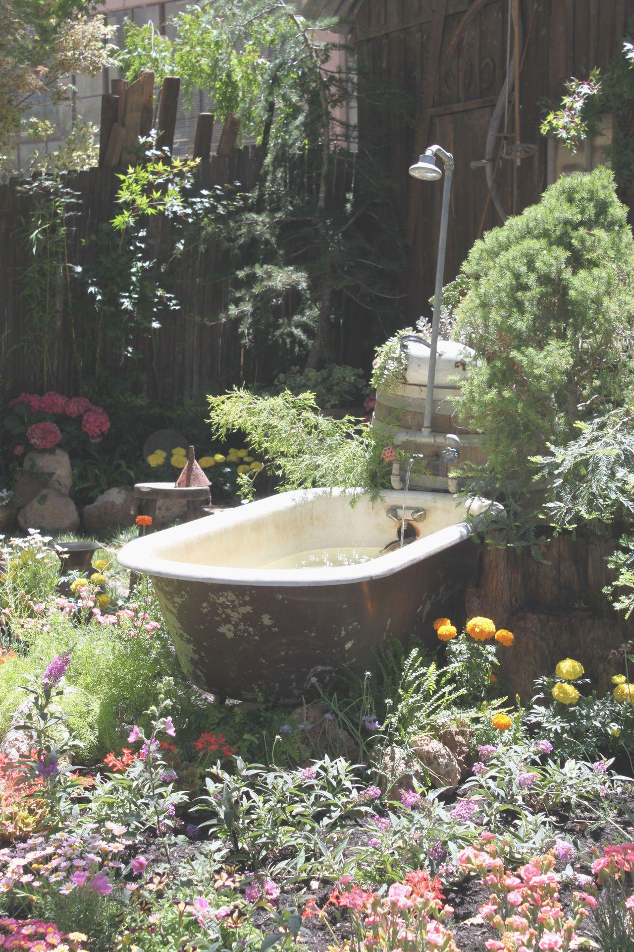 a lovely outdoor bath