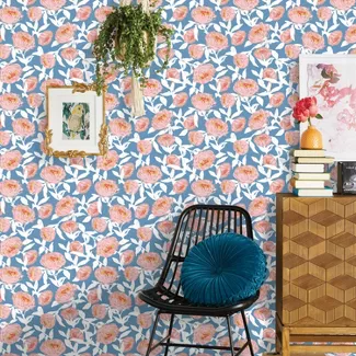 Floral Peel Stick Wallpaper Opalhouse Peel And Stick Wallpaper Diy Wallpaper Opalhouse