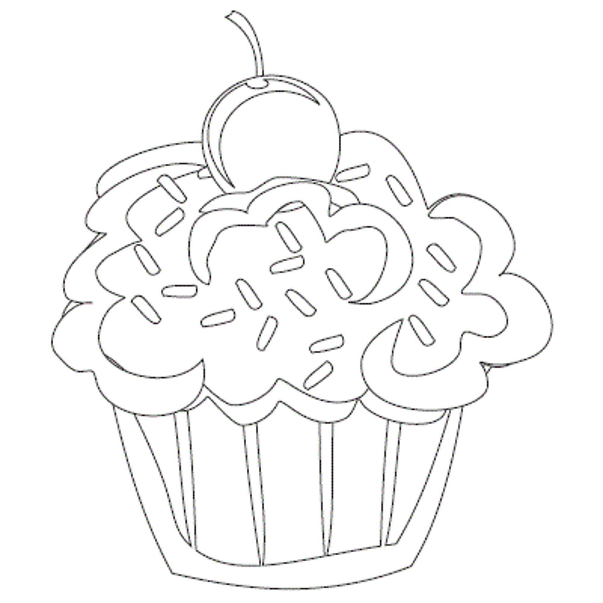 Cute Cupcakes Coloring Page Cupcake Coloring Pages
