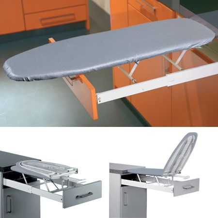 Ironfix Built In Ironing Board Pull Out Drawer Laundry Room Design Ironing Board Home