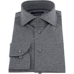 Photo of Profuomo Knitted Jersey Shirt Gray Profuomo
