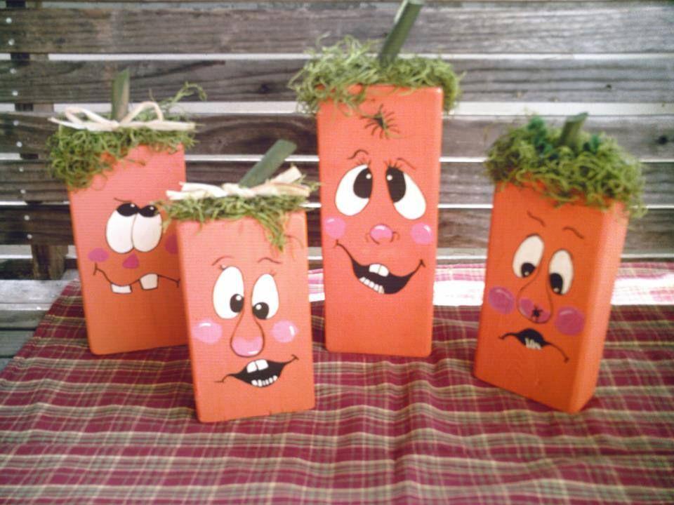wooden pumpkin family I made.