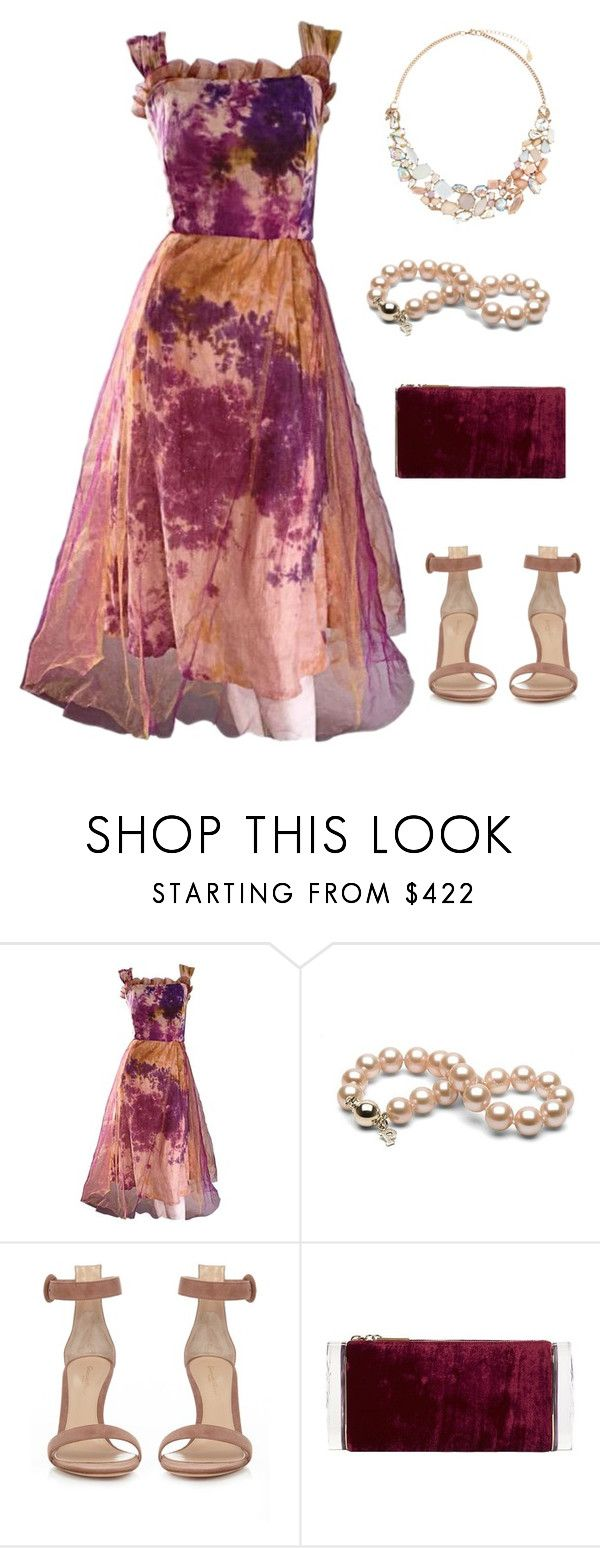 """""""Paint Splash"""" by amanda-o-twomey ❤ liked on Polyvore featuring Gianvito Rossi, Edie Parker and Accessorize"""