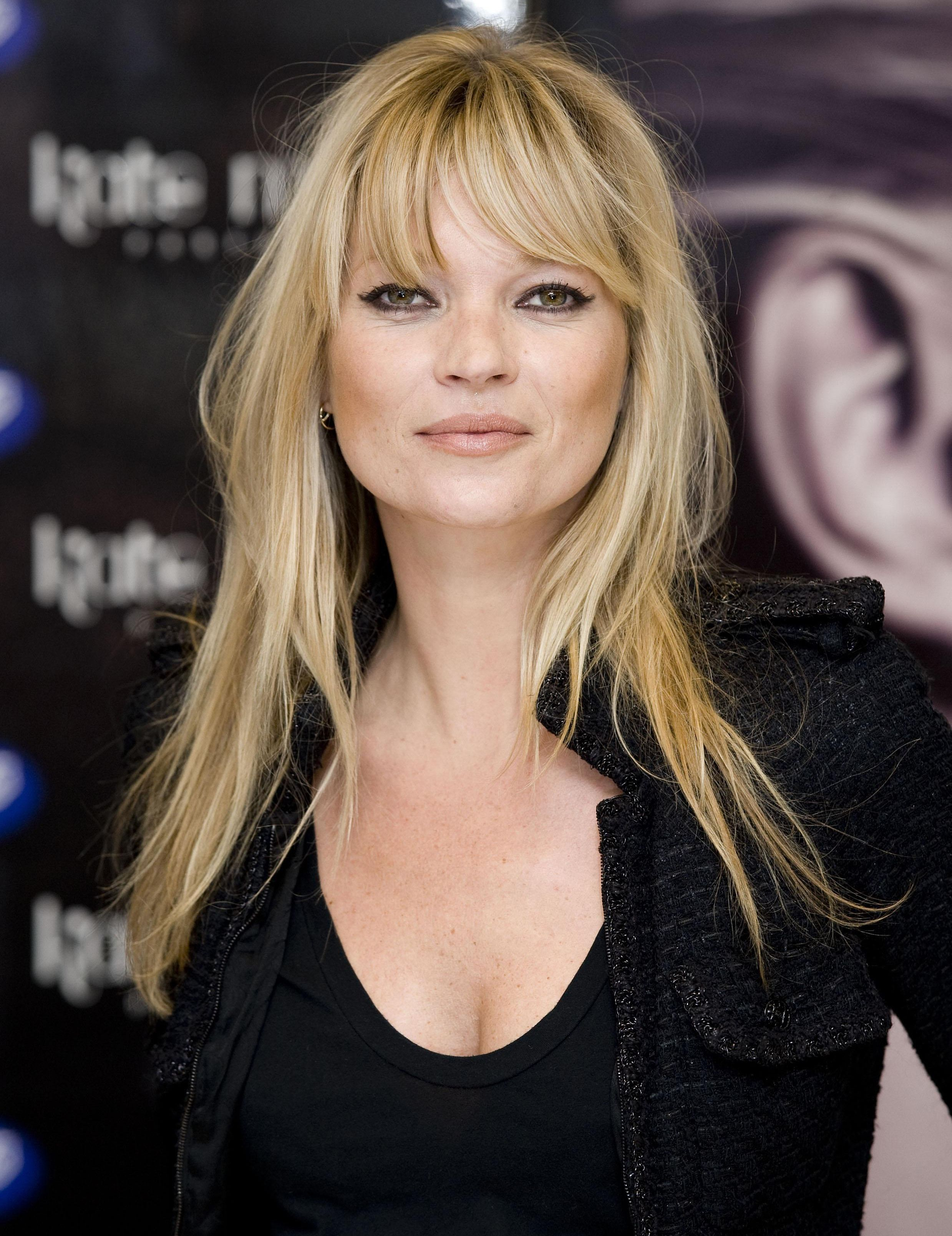 Kate moss kate moss hair style and bangs