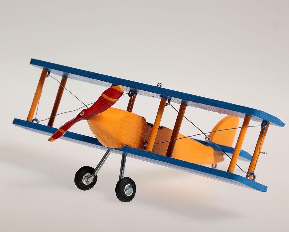 Little Biplane Hanging Airplane Nursery Decor Decorative Wooden For Children