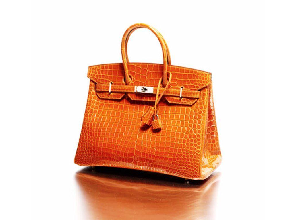 Hermes Orange Crocodile Birkin Bag 35cm