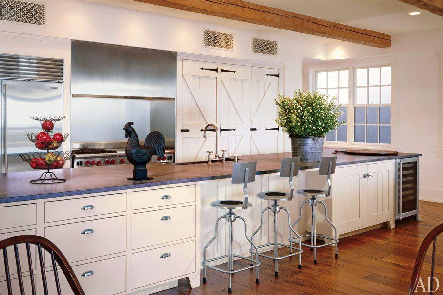 White Kitchens Design Ideas Malibu california, Strap hinges and Barn