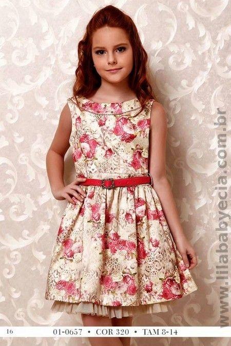 7294d7936 Vestido Estampado Infantil Diforini Moda infanto juvenil 010657 ...