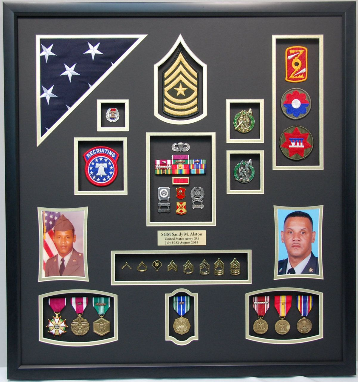 Military Memories And More Us Army Recruiter Shadow Box