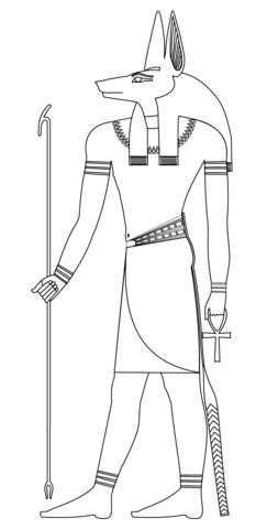 Huis Anubis Kleurplaten Printen.Anubis Kleurplaat Egypte Ancient Egypt Art Egyptian Anubis En