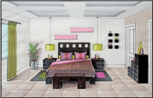 How To Draw One Point Perspective Room Party Scene Google Search Perspective Room One Point Perspective Room Room Perspective Drawing