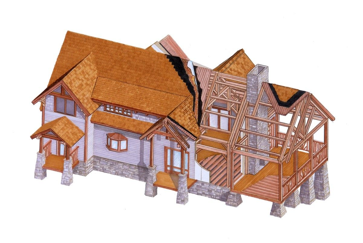 Natural Element Homes: precision milled timber frame homes, Amish ...