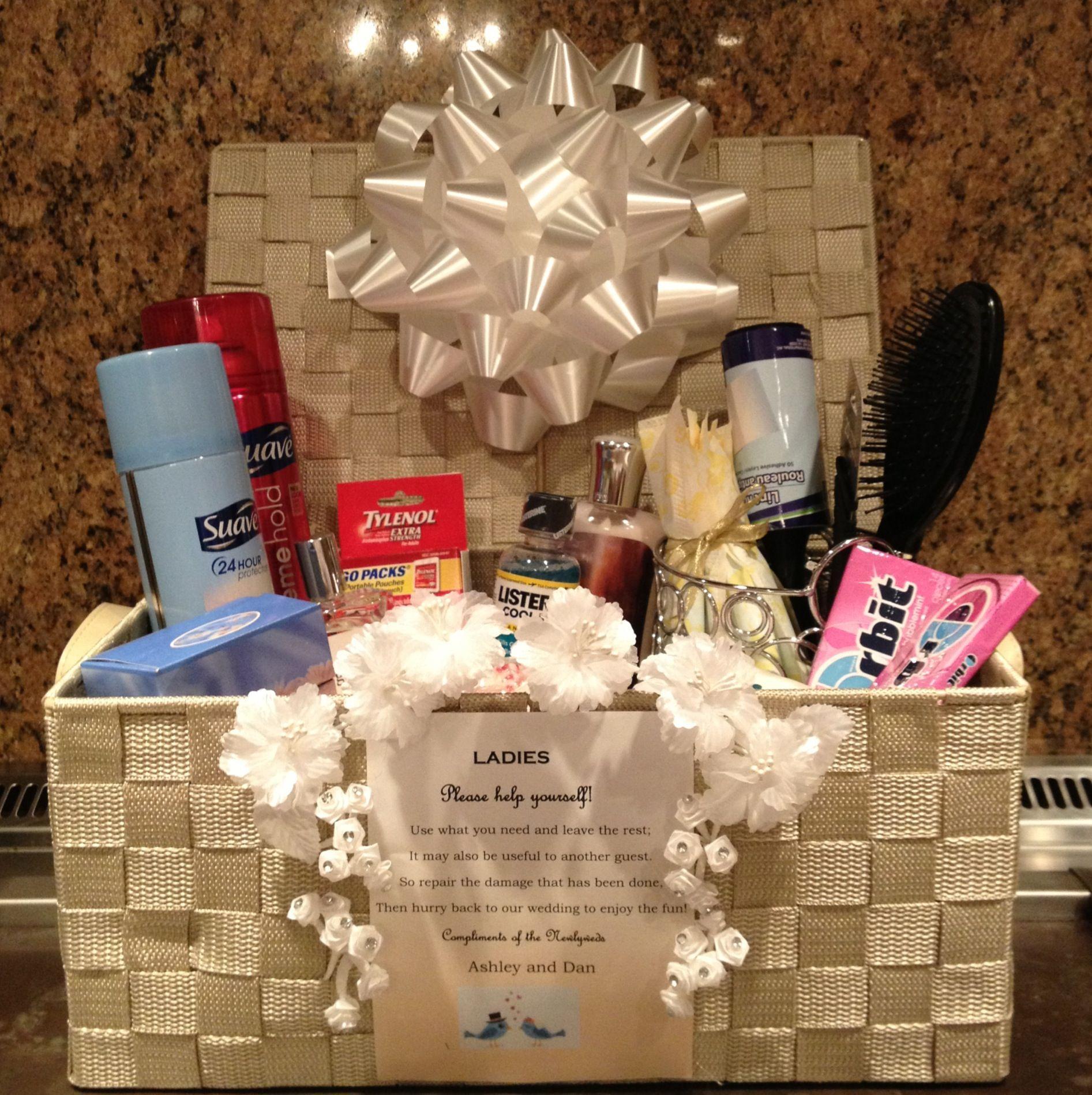 Practical bathroom basket for wedding. One for each ...