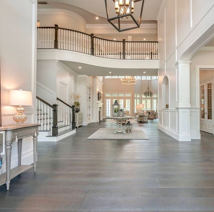 Entry Way With Grey Neutral Tones Dream House Ideas Kitchens Dream House Rooms Dream House Interior Open concept house grey