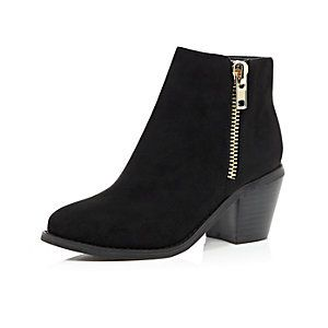 girls ankle boots black