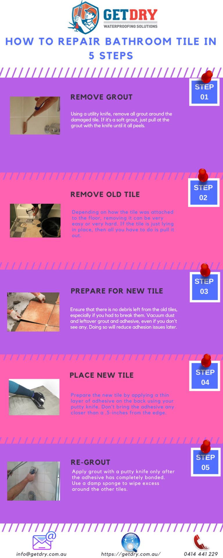 Here are 5 important steps for #tile #grout #repair in ...