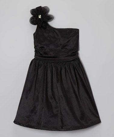 Take A Look At This Black Satin Party Dress By Ruby Rox On