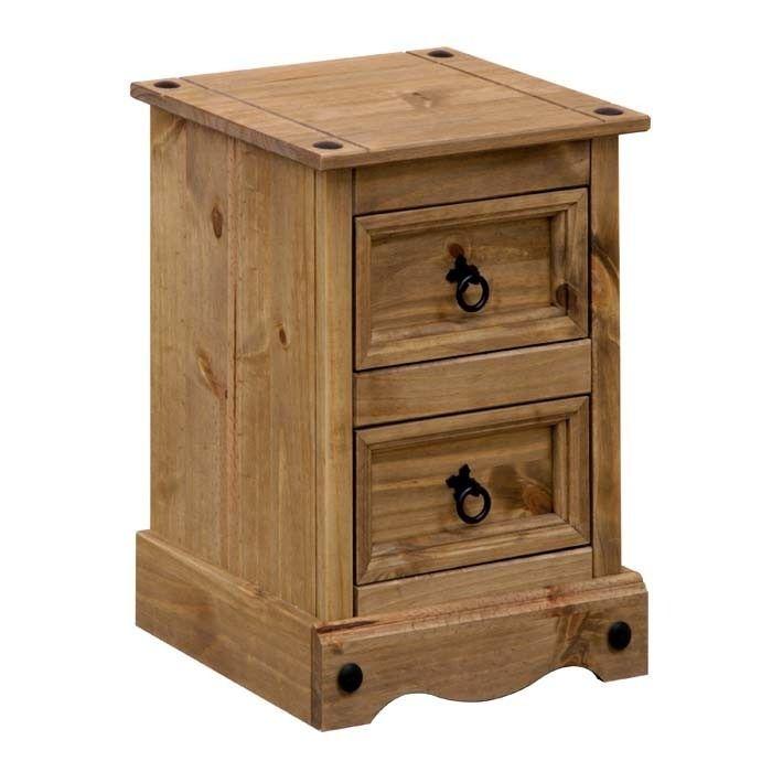 Best Corona 2 Drawer Petite Bedside Cabinet Petite Bedside 400 x 300