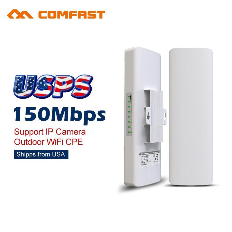 Comfast 150m Wireless Outdoor Wifi Repeater Bridge Signal Booster Amplifier 14dbi Antenna Wi Fi Access Point Cpe Antenna Nanosta Signal Boosters Wifi Antenna