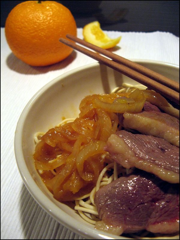 Recette rapide : Magret de canard à l'orange