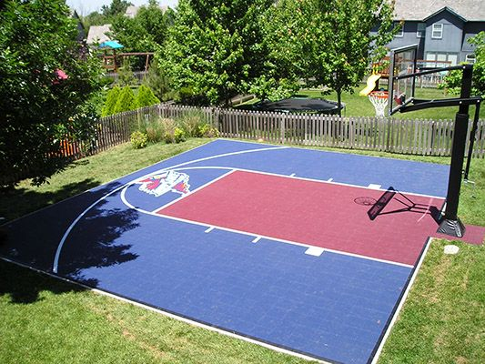 Sport court kc backyard basketball court pinterest for Backyard sport court