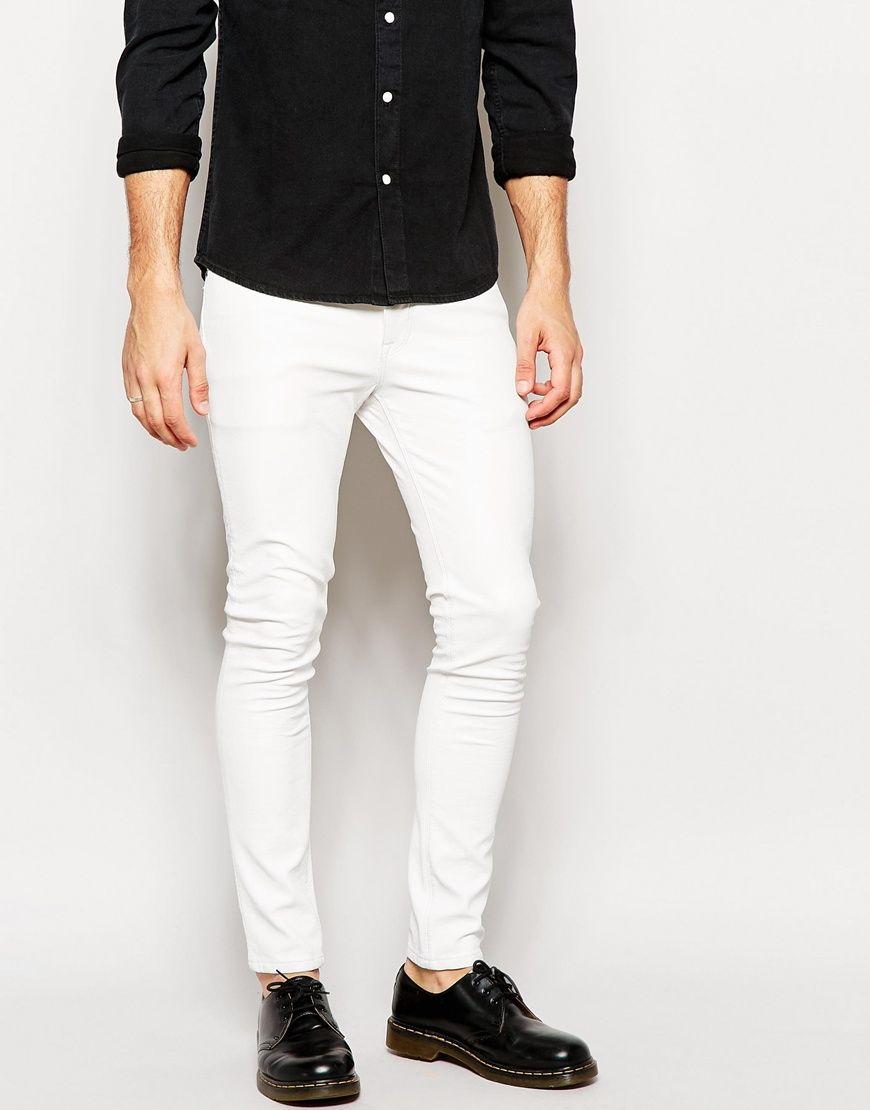 Asos Mens Super Skinny Jeansh White - Jeans