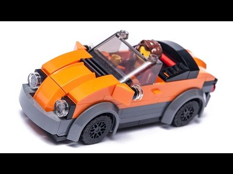 how to make LEGO stuff ! City CABRIO car moc tutorial - YouTube