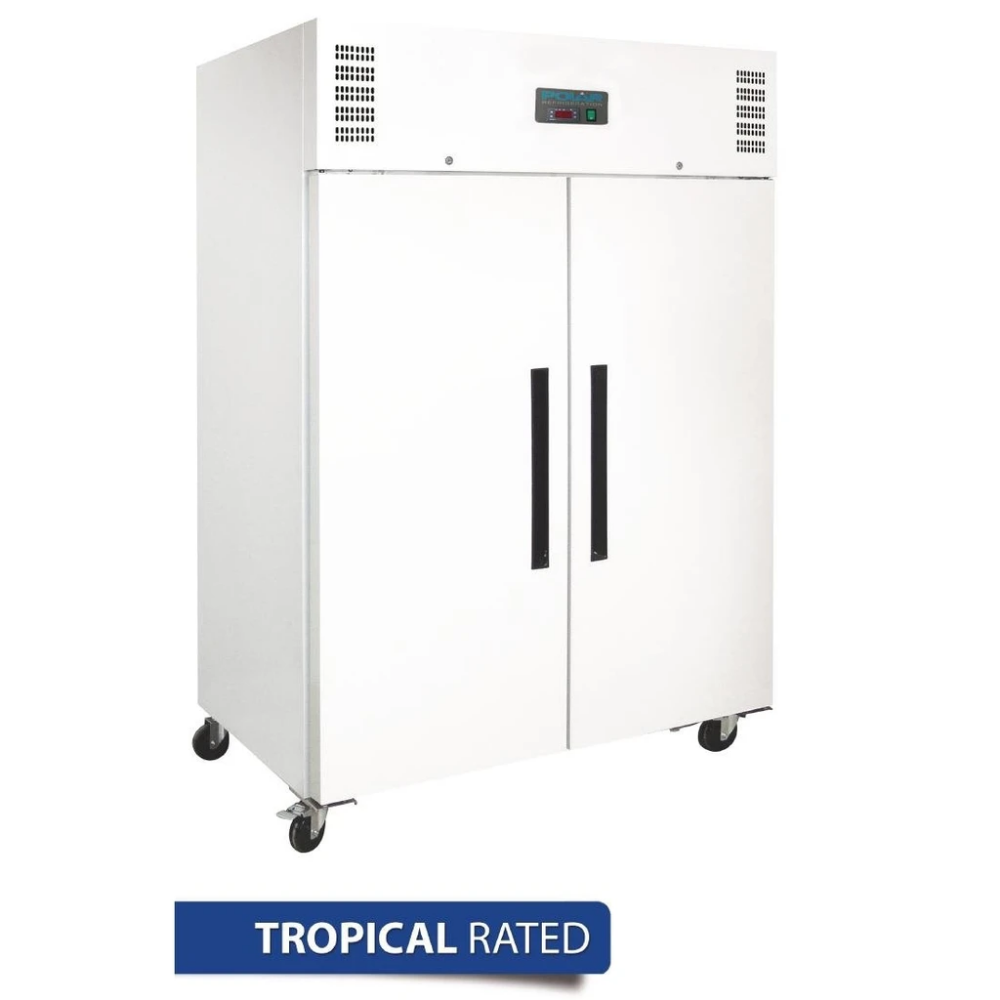 Polar 1200l 2 Door Upright Freezer White In 2020 Upright Freezer Commercial Catering Equipment Locker Storage