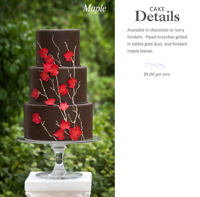 "The ""Maple"" wedding cake from the AP Signature line - Ana Parzych    apsignaturecakes.com"