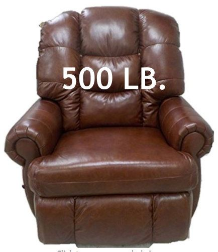 Big, cozy, heavy-duty, 500 LB recliner chair for the big ...