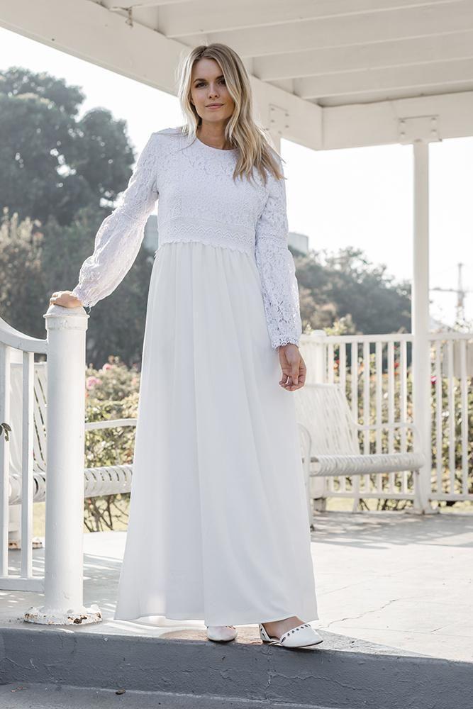 d886aa2b472 White Begonia Dress – ModWhite